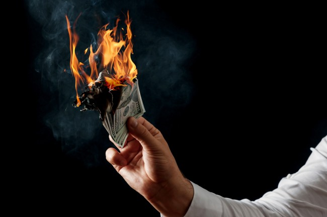 Canadian man burns $1 million so that he doesn't have to pay ex-wife child support.