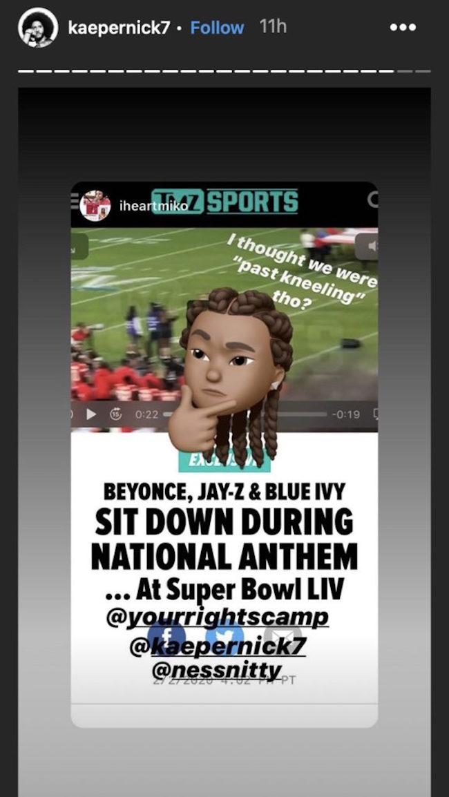 kaepernick jay z sitting national anthem