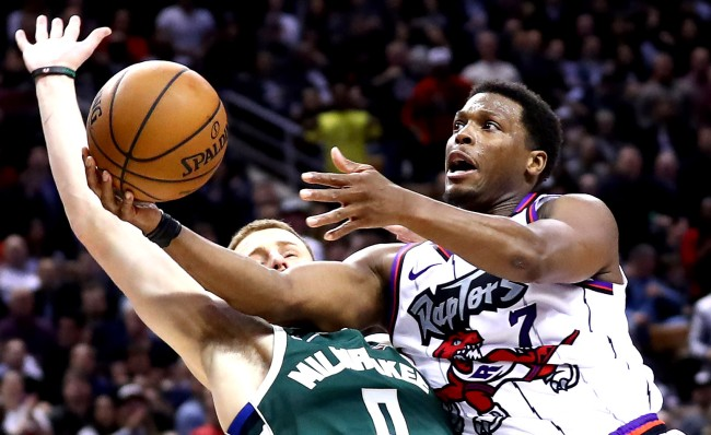 Kyle Lowry Tried To Dive Between Another Players Legs While Dribbling