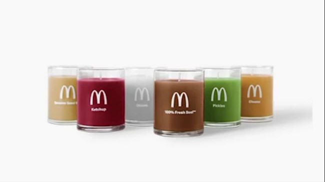 McDonalds Quarter Pounder With Cheese Candles