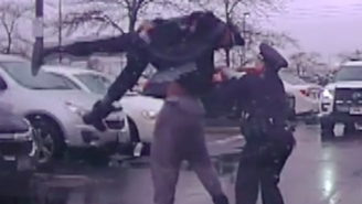 Eastern Kentucky Football Player Michael Harris Was Arrested For Lifting A Cop Over His Head Before Bodyslamming Him In A WILD Video