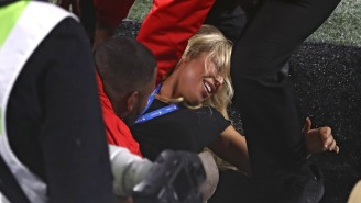 Model Arrested For Jumping On The Field, Flashing Crowd During Super Bowl Says She Was 'Just Living My Best Life'