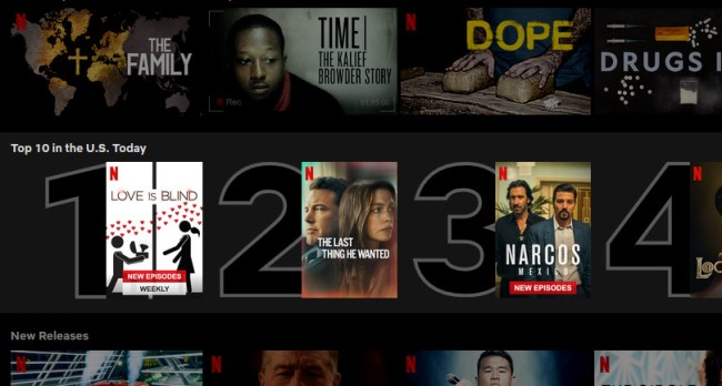 Netflix Introduces New Top 10 Row That Shows What People Are Watching