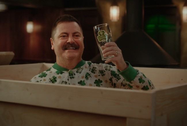 Nick Offerman interview Guinness St. Patrick's Day 2020 tips and advice
