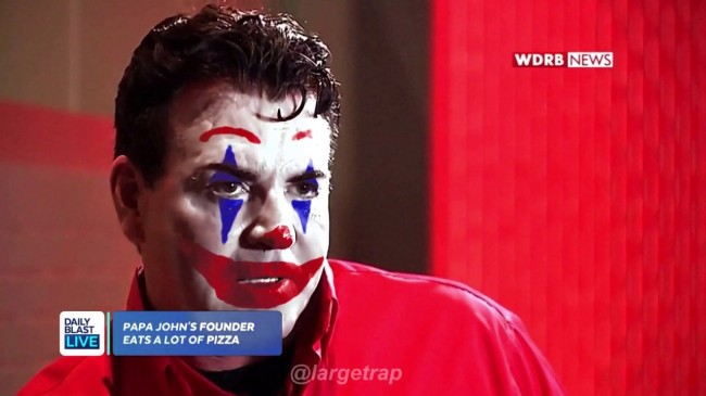 Someone Added Joker Face Paint To That Unhinged Papa Johns Interview