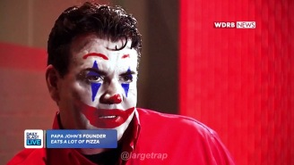 Someone Added Joker Makeup To That Unhinged Papa John's Interview And It's Absolutely Mesmerizing