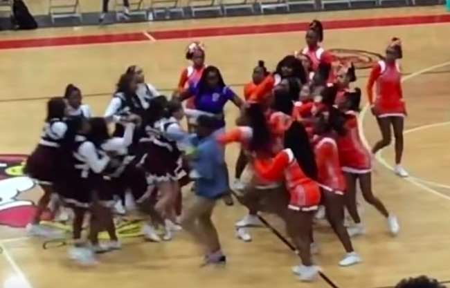 st louis high school cheerleading brawl
