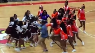 A Massive Brawl Broke Out After Two High School Cheerleading Teams Got Incredibly Heated In The Middle Of A Basketball Game