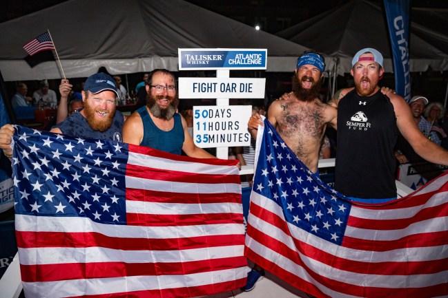 Talisker Whisky Atlantic Challenge military veterans