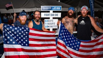 A Team Of American Veterans Has Triumphantly Rowed Across The Ocean After 50 Days At Sea