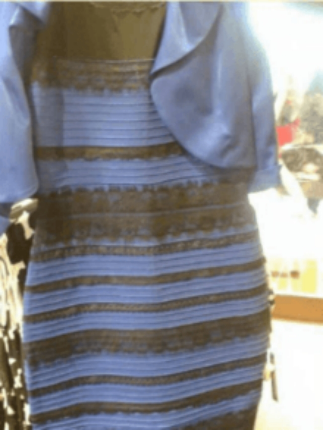 The Dress Black Blue White Gold