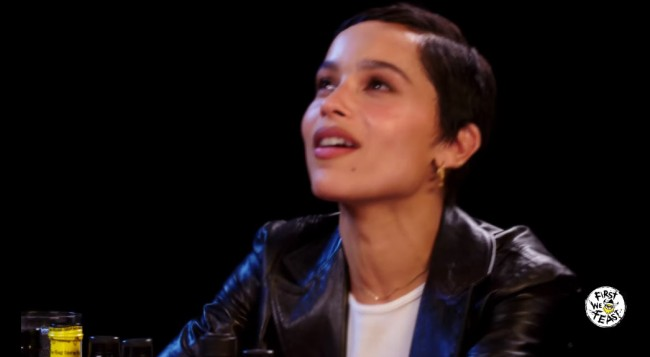 Zoe Kravitz First We Feast Hot Ones Challenge Does Very Well