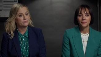 Rashida Jones Gives Amy Poehler A Lie Detector Test, Asks About 'Parks And Rec' Reunion And Secret Group Chat