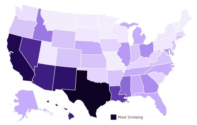 Analysis Reveals States Consuming Most Alcohol While On Lockdown