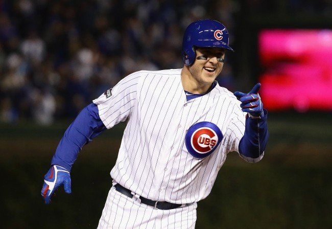 Chicago Cubs first baseman Anthony Rizzo roasted the Houston Astros during an at-bat in spring training game