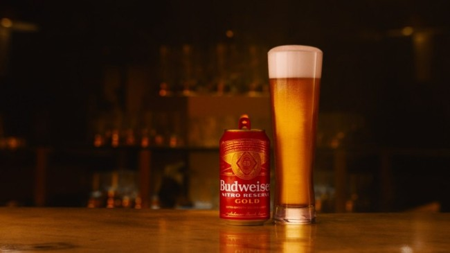 Anheuser-Busch unveiled a golden lager infused with nitrogen gas for a bold taste and silky-smooth finish known as Budweiser Nitro Reserve Gold beer.