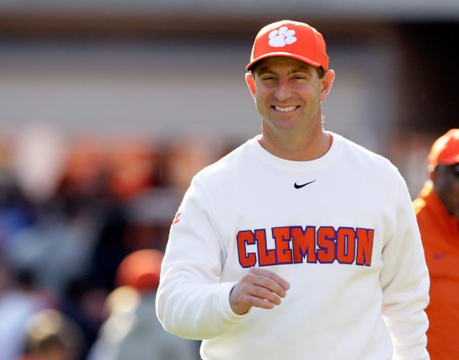 Clemson Tigers head football coach Dabo Swinney reveals the only three cuss words his players can use without him getting upset