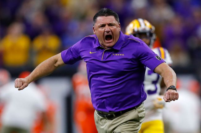 Ed Orgeron's Mom, Coco, Has '60 Minutes' Eat Her Gumbo Before They Sit Down For An Interview