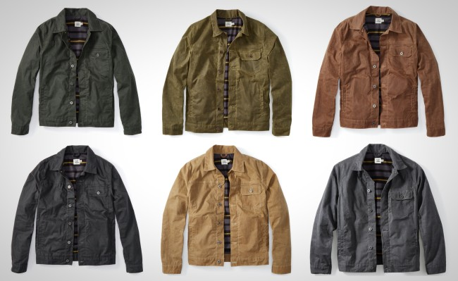 Flint and Tinder Waxed Trucker Jacket Flannel Lined
