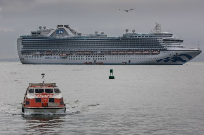 Coronavirus update: Grand Princess cruise ship waiting for test results before docking in San Francisco, President Trump signs $8.3 billion aid package, man with COVID-19 attended Tool concert.