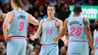 Random Miami Heat Fan Tricks NBA Twitter And Players Into Thinking Andre Iguodala Quote About Duncan Robinson Was Real, It Indeed Was Not