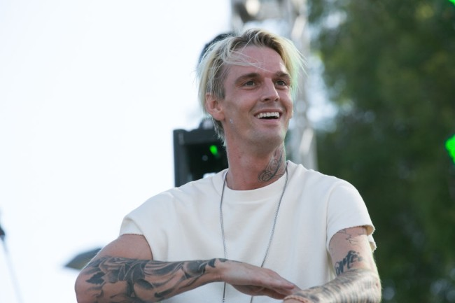 Aaron Carter gets large face tattoo dedicated to his Instagram model girlfriend Melanie Martin.