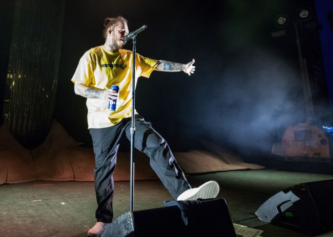 Post Malone is hosting a virtual beer pong for charity called the Ballina Cup with Rob Gronkowski, Danny Amendola, Machine Gun Kelly and more.