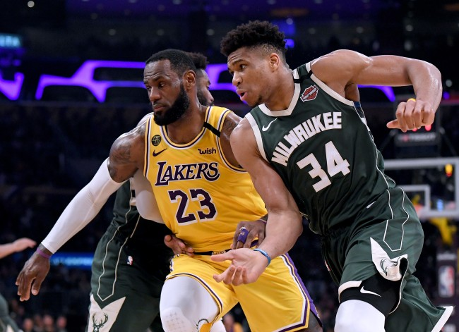 Giannis Antetokounmpo had a hilarious reaction when finding out for the first time that his girlfriend grew up a Lakers fan