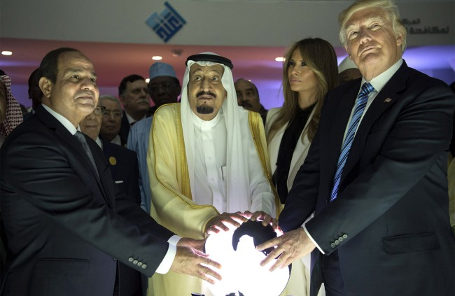 Glowing Orb Trump Touched In Saudi Arabia Is In The US Now