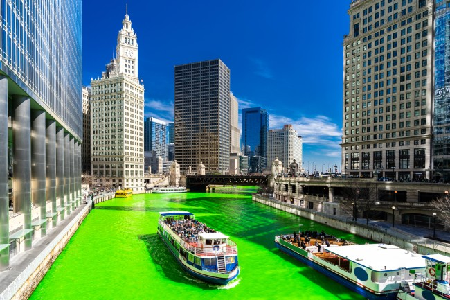 St. Patrick's Day Chicago Green River