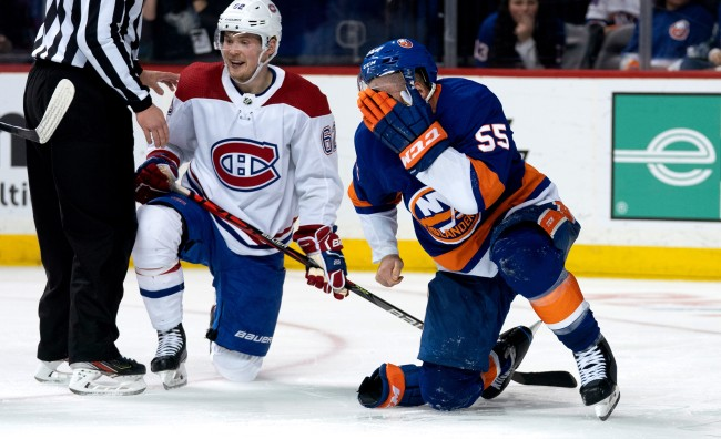 Johnny Boychuk Needed 90 Stitches After Taking A Skate To The Face
