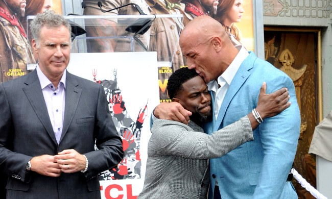 Kevin Hart Takes Another Swipe At The Rock For Using A Stunt Double
