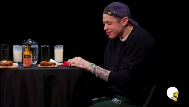 Pete Davidson Was Literally Shaking Doing The Hot Ones Challenge