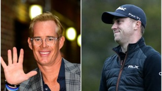 Joe Buck Gives Electric Play-By-Play Of Justin Thomas Grooming His Receding Hairline