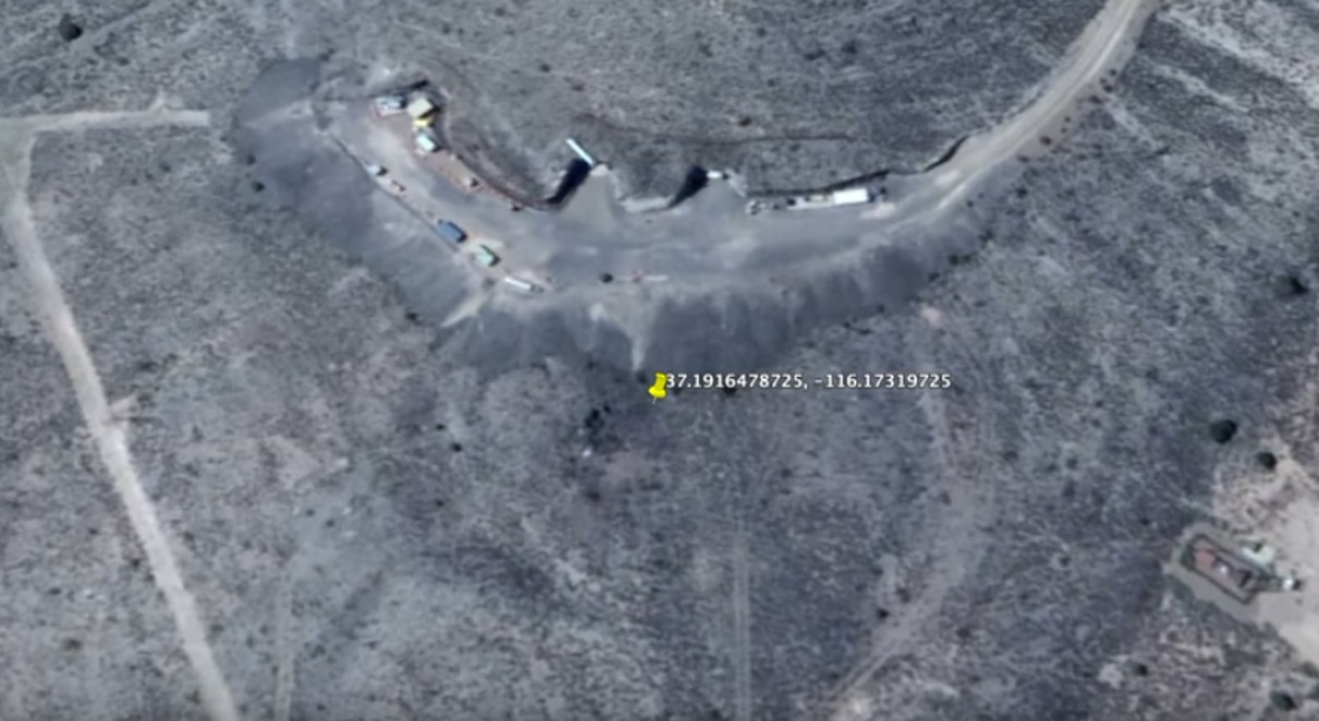 Secret area 51 tunnel openings discovered in Google Earth
