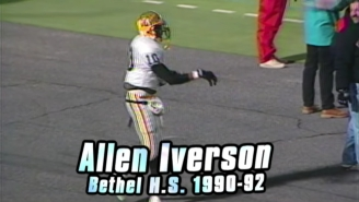 A Look Back At How Allen Iverson Lit Up The Football Field Before Becoming An NBA Legend