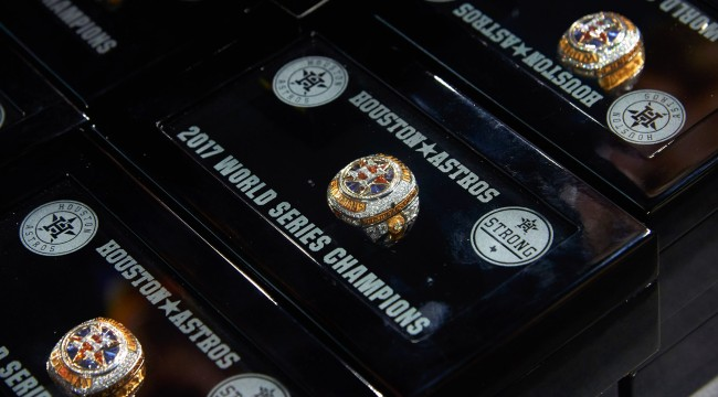 Astros Block World Series Ring Auction Planned To Support Relief Effort