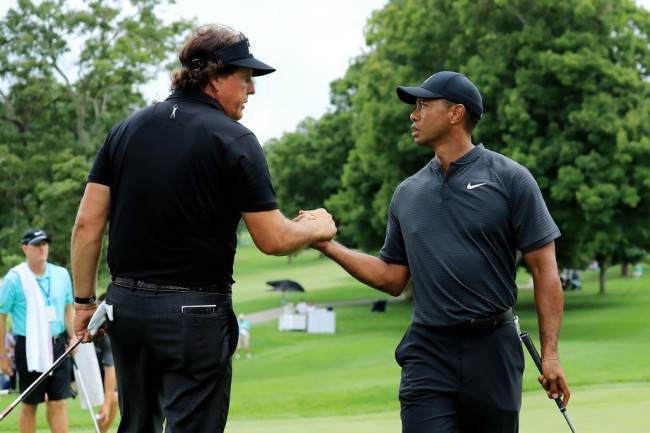 phil mickelson note tiger woods masters
