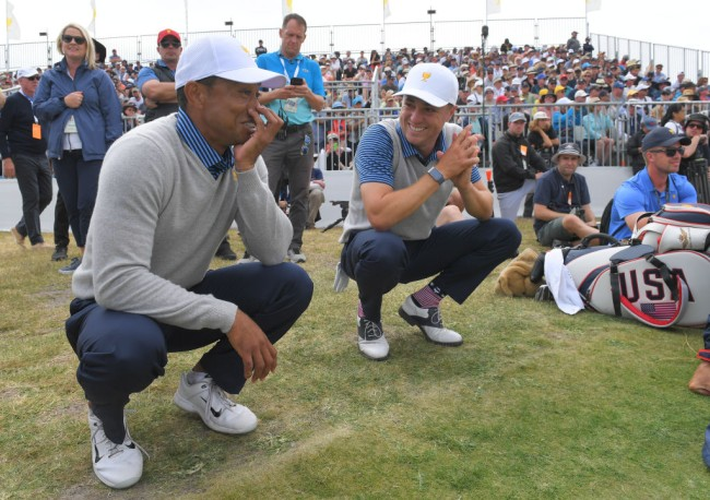 tiger woods golf course payne valley justin thomas celebrity match