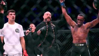 MMA Ref Mike Beltran Turns His 3-Foot-Long Mustache Into A Mask