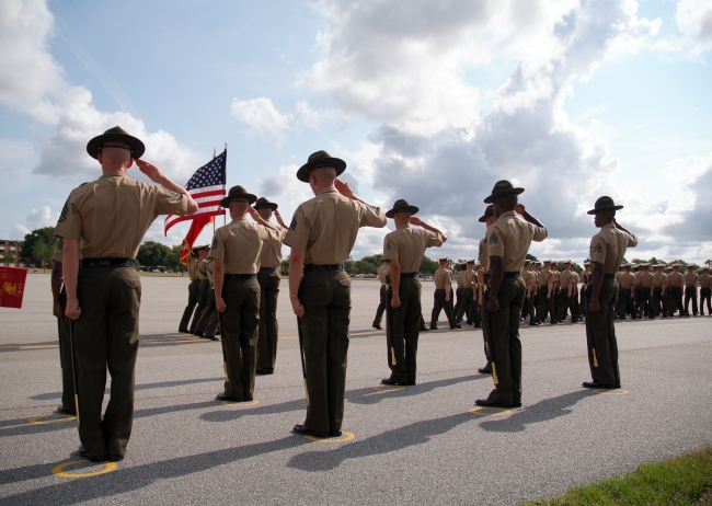Parris Island marine corps graduation