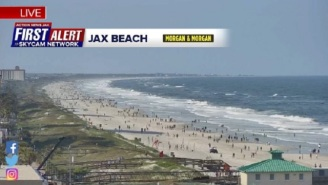 Jacksonville Beach In Florida Reopened Friday Afternoon And Is Already Getting Packed