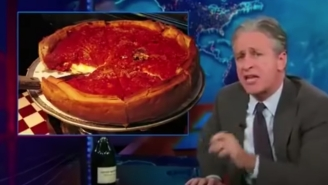 Let's Revisit Jon Stewart's Passionate Rant Against Deep Dish Pizza As A Reminder Of NY Pizza's Vast Superiority