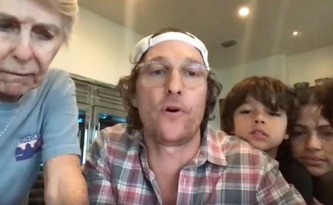 Matthew McConaughey calls bingo