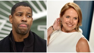 Katie Couric Details 'Uncomfortable' Interview She Had With Denzel Washington And How Denzel Made It Up To Her