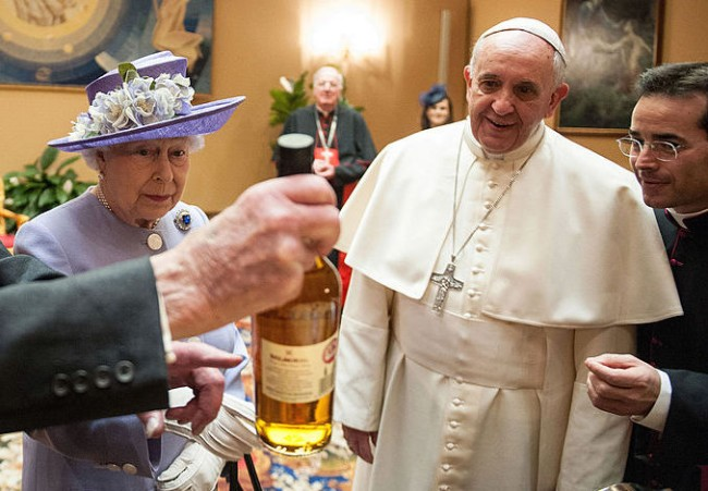 pope francis whiskey holy water