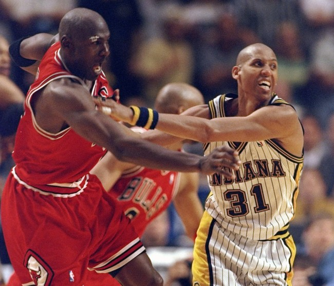 Former NBA player Reggie Miller claims he'd punch Michael Jordan in public if he saw him because of their bitter rivalry from the '90s