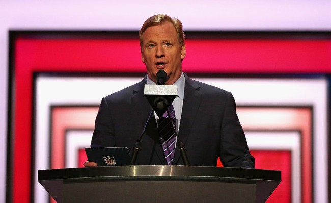roger goodell nfl draft basement