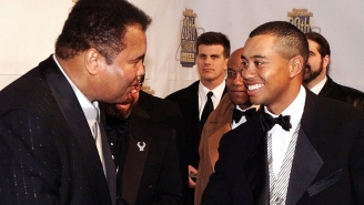 Tiger Woods Describes The Time Muhammad Ali Snuck Up Behind Him And Gave Him A Rather Painful 'Love Tap' In The Ribs