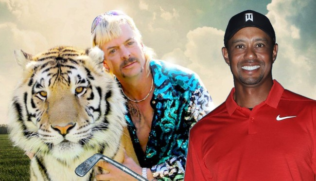 Someone Created A Tiger Woods-Tiger King Mashup Video And Its So Good